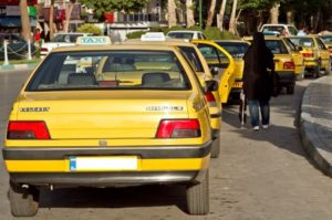 Taxi or تاکسی in Iran