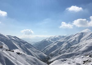 Snow-Covered Mountain in Iran