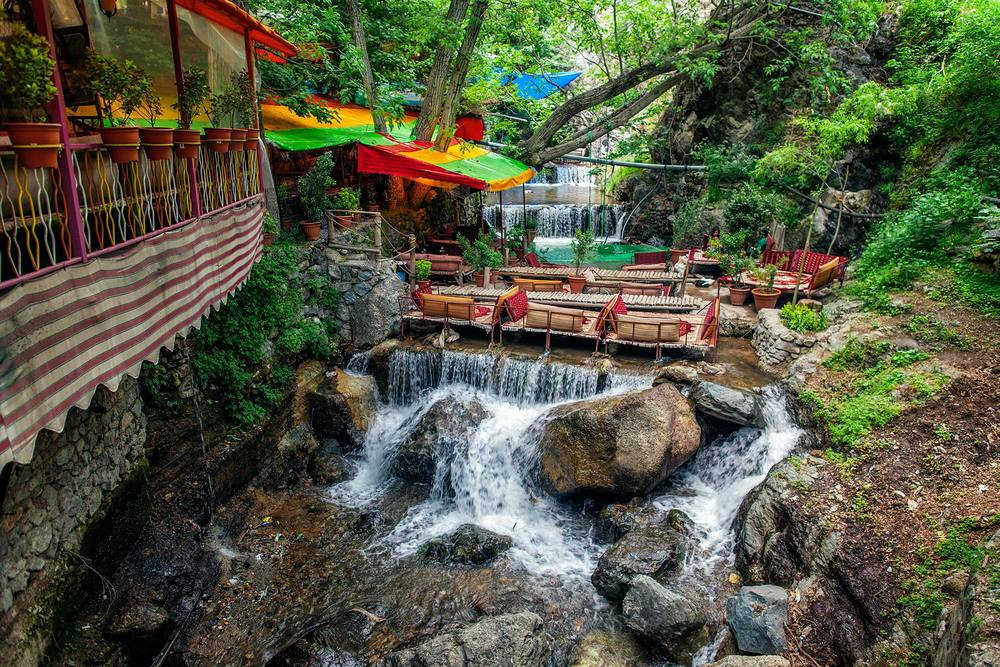 beautiful Darband in spring,Tehran, Iran