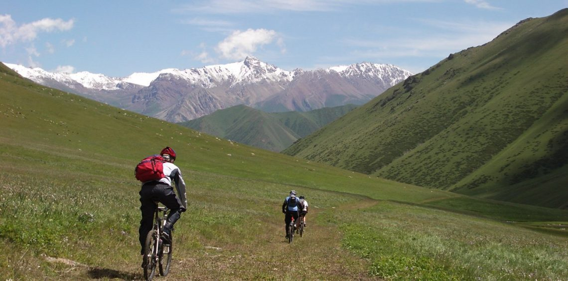 biking on mountains of Iran