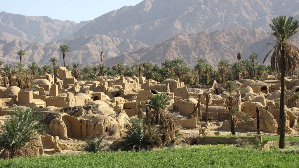 The village of Esfahak near Tabas