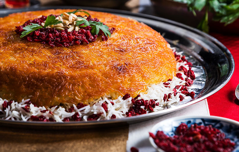 Tahchin, an Iranian delicious food