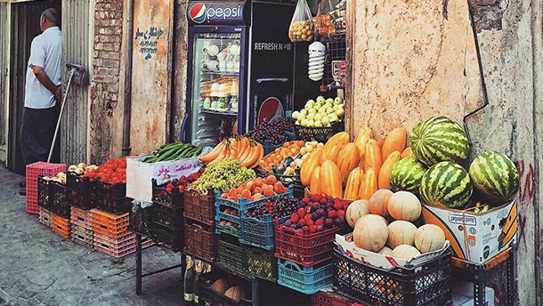naser khosrow street food and fruit