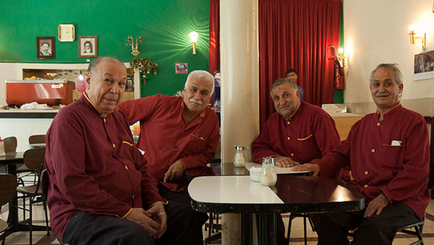 Naderi Cafe and its waiters