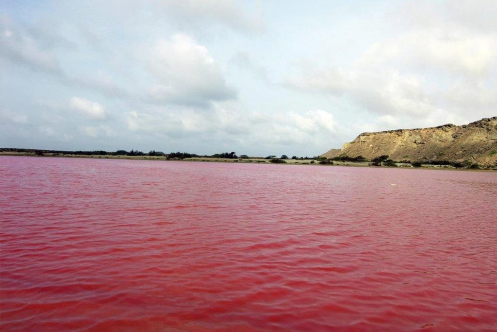 Pink Lake in Chabahar