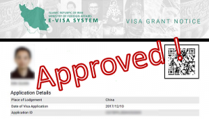 iran visa approved