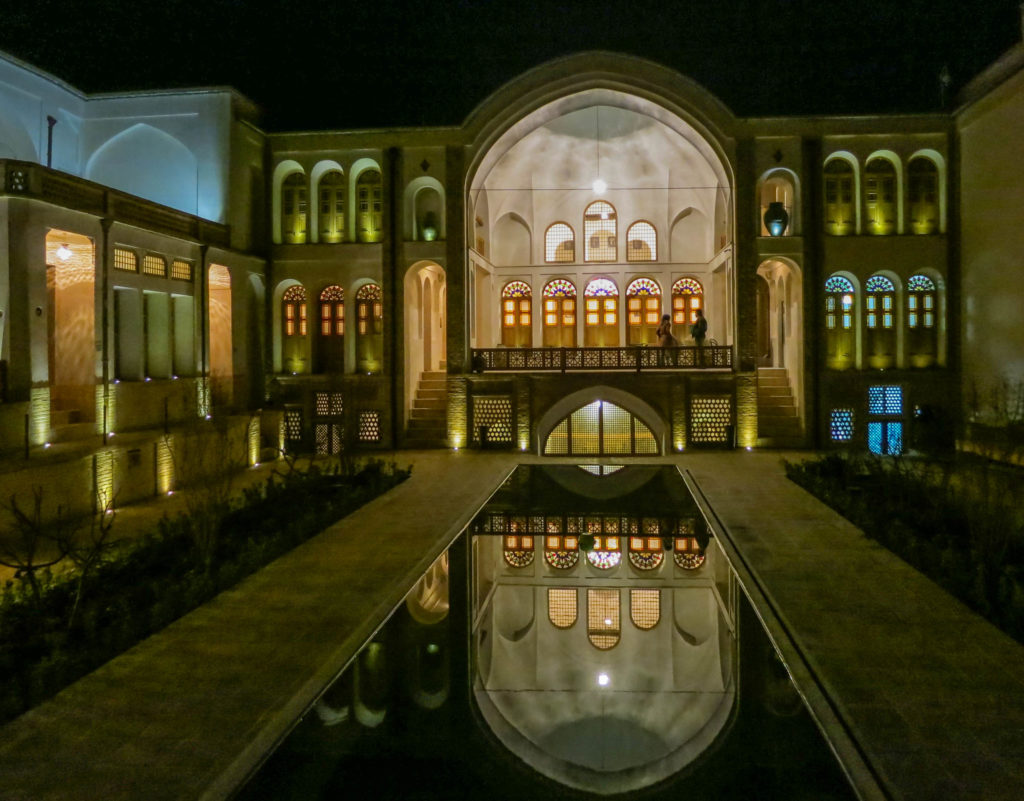 Manouchehri House at night