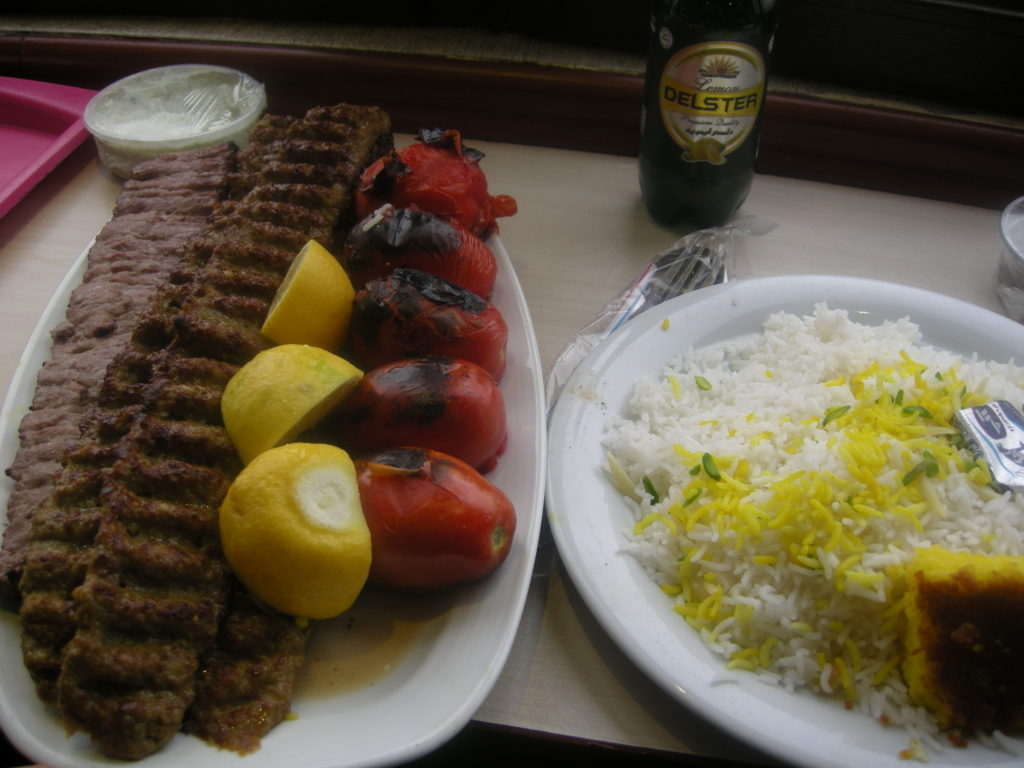 kebab and rice
