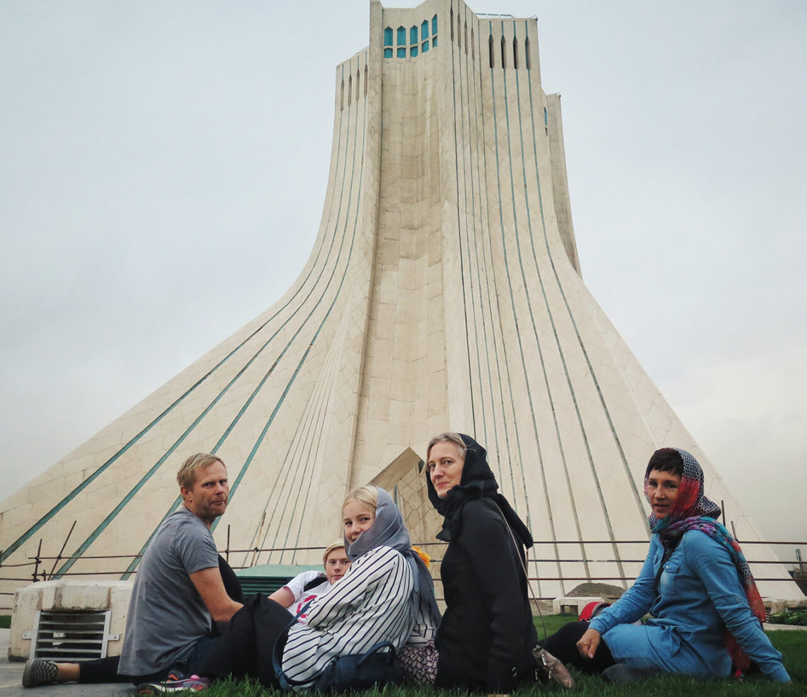 Tourists wear hijab in Iran