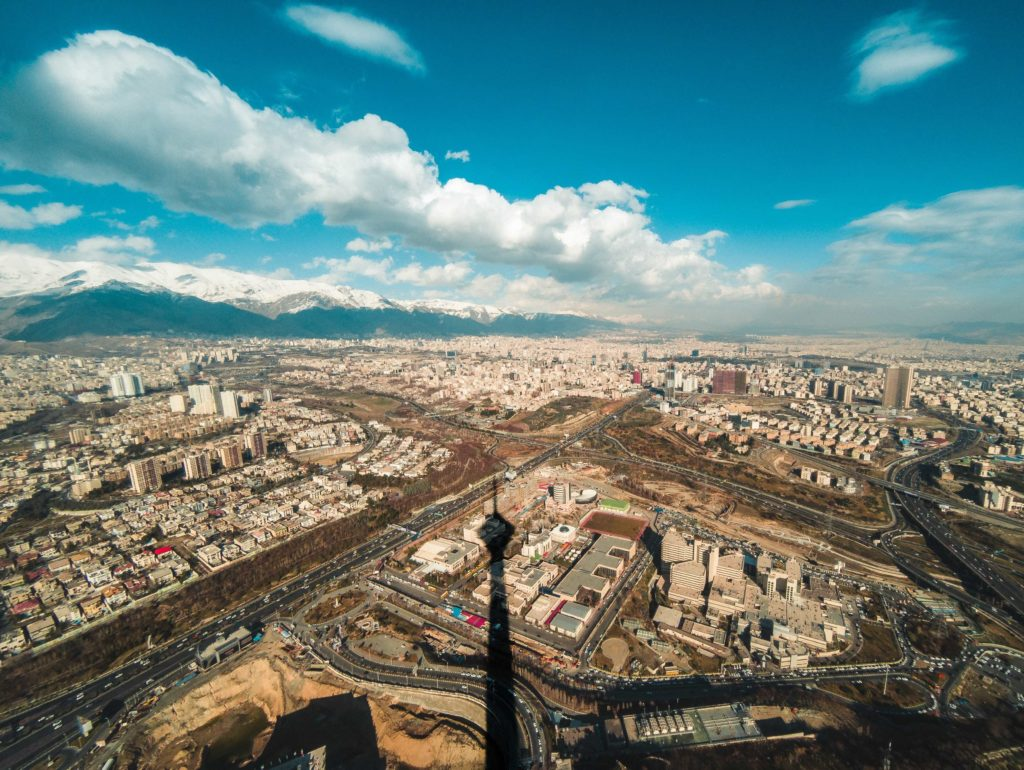view of Tehran from Milad Tower