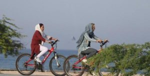 Women's Cycling on the Coast of Kish