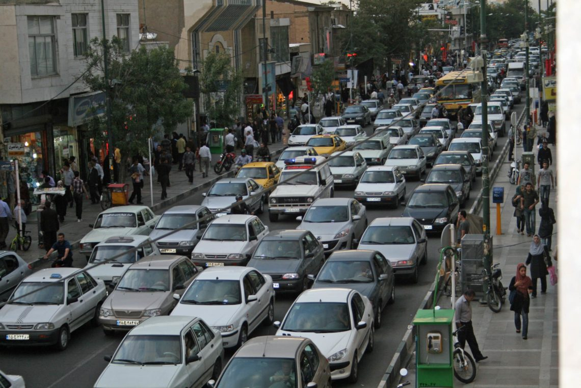 Traffic in Tehran, Iran