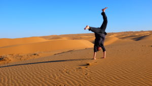 Frolicking in the Maranjab Desert, Iran