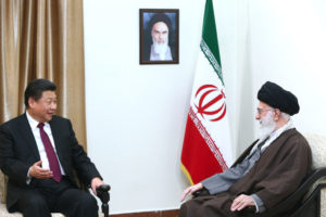 Xi Jinping, the Chinese Paramount Leader meeting with Ali Khamenei