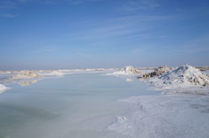 Salt Lake near Varzaneh, Isfahan Province