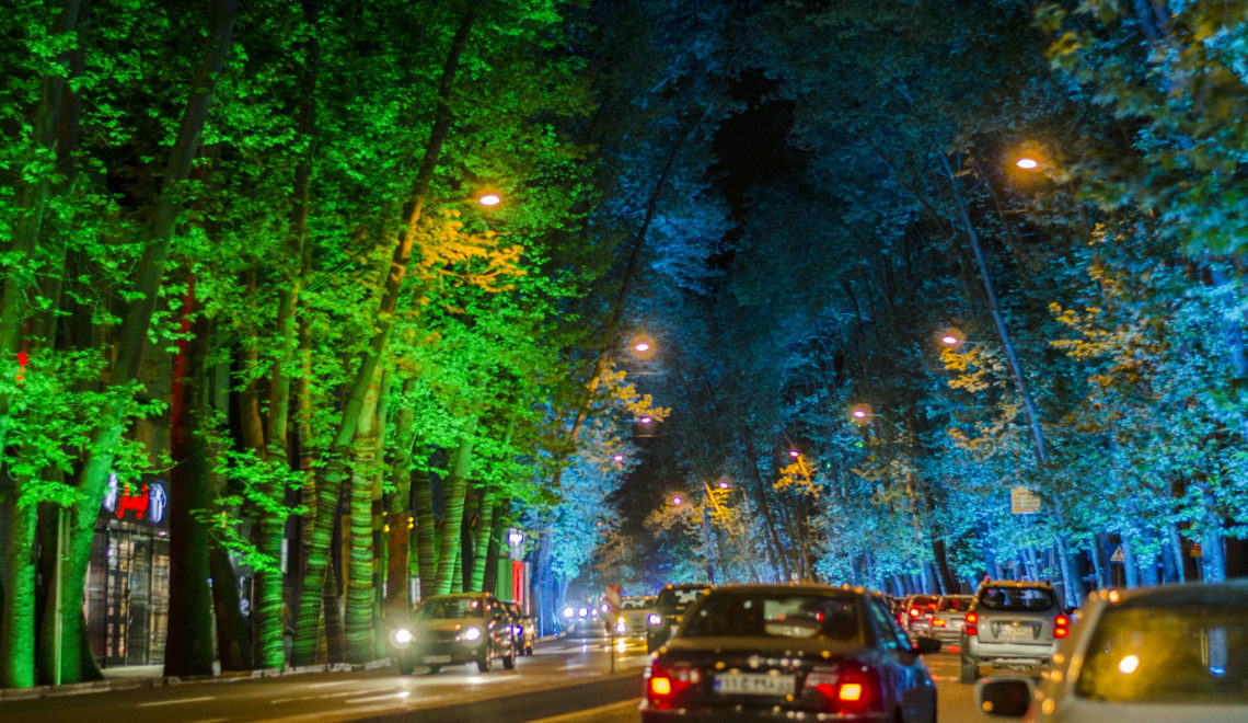 Popular walking spots in Tehran