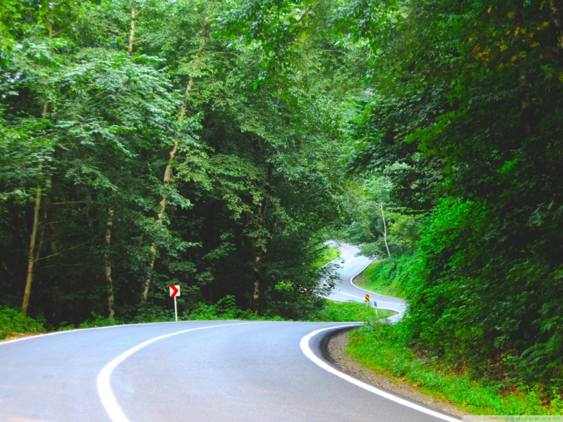 The beautiful Chalus road