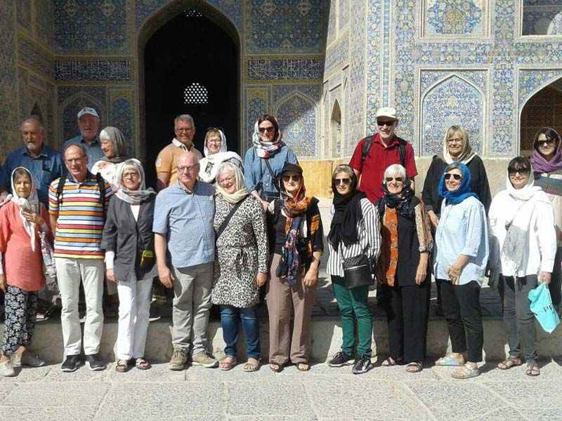 Tourists at Isfahan city of Iran