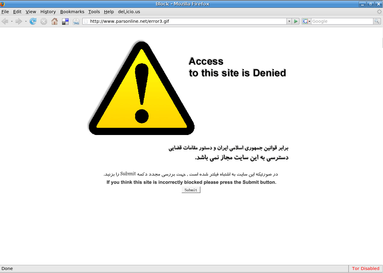 Internet Censorship and Blocked Websites
