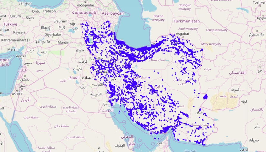 irancell 4G coverage map
