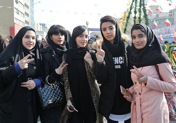 young girls in Iran