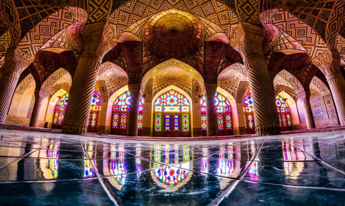 The Pink Mosque in Shiraz