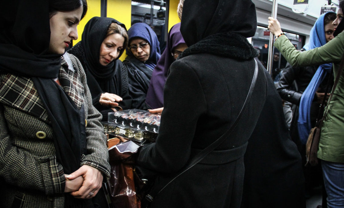 Women wagon in Tehran's metro